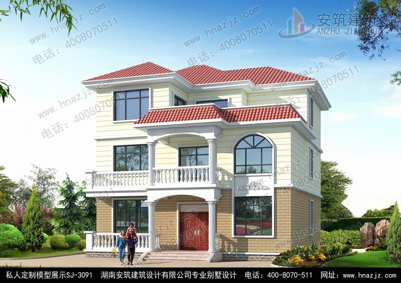 二层半农村房屋设计图,安筑别墅图纸超市