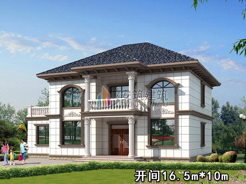 二层欧式别墅设计图纸及效果图大全,农村自建房小洋楼设计图,AZ217 别墅