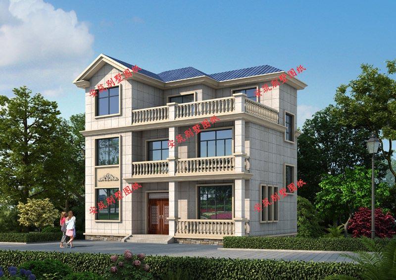 农村二层小别墅设计效果图 别墅图纸设计 别墅设计图纸 别墅图纸超市 二层